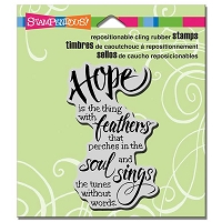 Stampendous - Cling Mounted Rubber Stamp - Hope Sings
