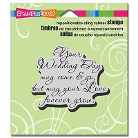 Stampendous - Cling Mounted Rubber Stamp - Your Wedding