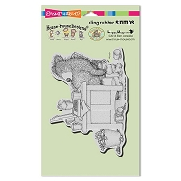 Stampendous - Cling Mounted Rubber Stamp - House Mouse Gruffies Bearly Working