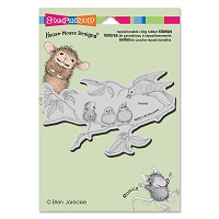 Stampendous - Cling Mounted Rubber Stamp - House Mouse Feeding Time
