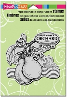 Stampendous - Cling Mounted Rubber Stamp - Pear Label