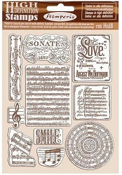 Stamperia - Cling Stamps - Passion Music