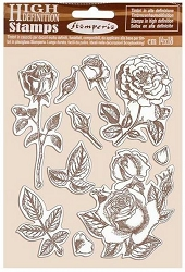 Stamperia - Cling Stamps - Passion Roses