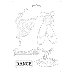 Stamperia - Passion Dancer A4 Soft Maxi Mould