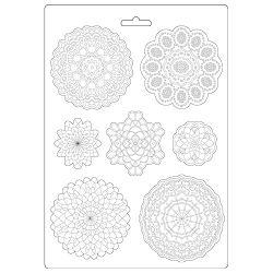 Stamperia - Passion Round Lace A4 Soft Maxi Mould