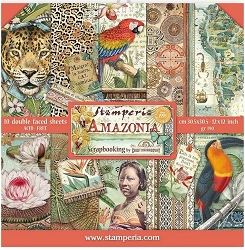 PRE-ORDER!! A4 Rice paper packed Amazonia parrot. Stamperia