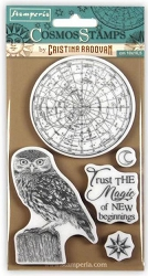 Stamperia - Cling Stamps - Cosmos Owl