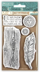 Stamperia - Cling Stamps - Cosmos Feather