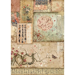 Stamperia - Oriental Garden Branch & Writings Rice Paper