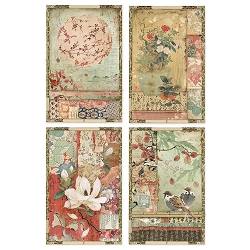 Stamperia - Oriental Garden Japanese Postcards Rice Paper