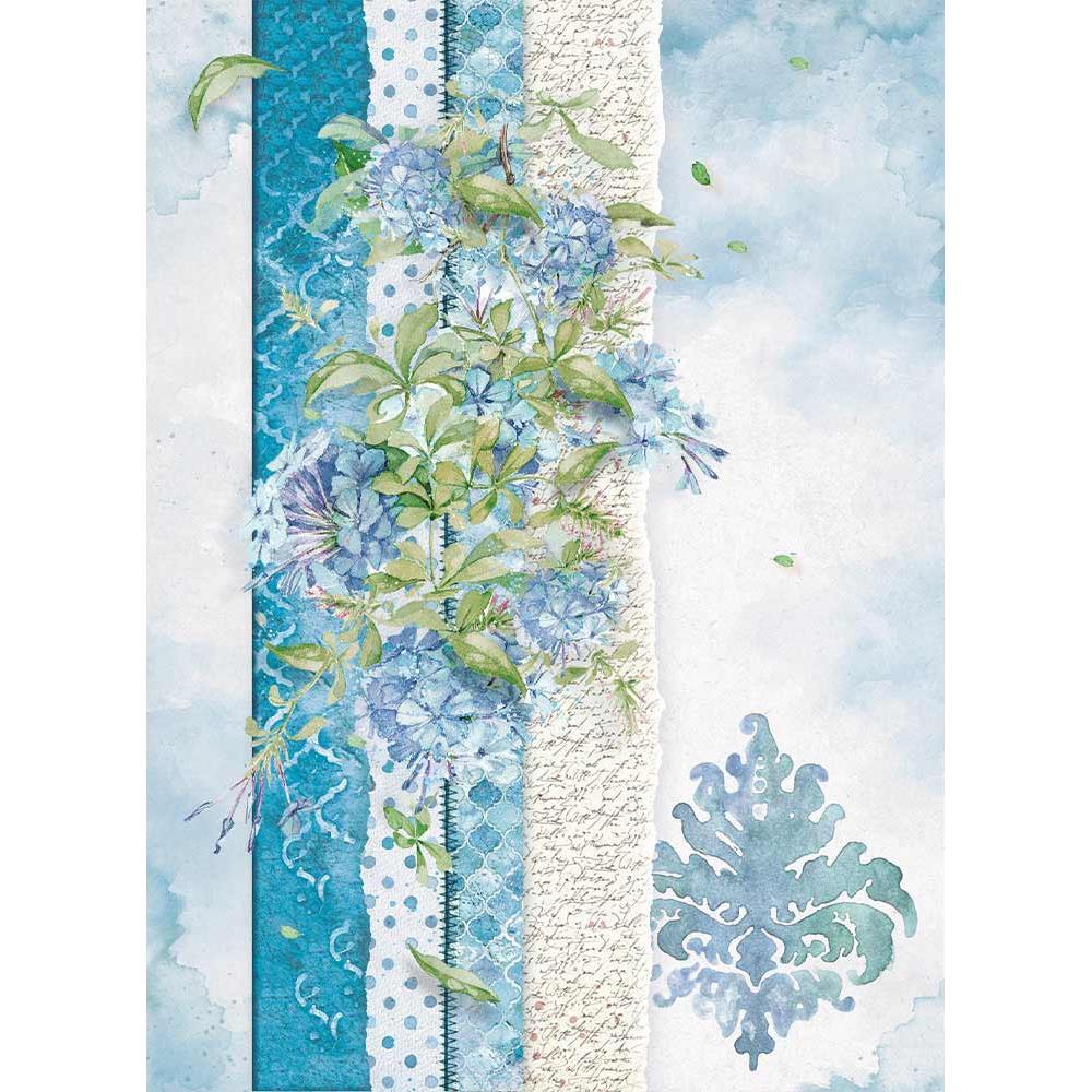 DFS409 Stamperia Rice Paper 48x33cm Blue Land