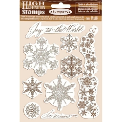 Stamperia - Cling Stamps - Winter Tales Snowflakes