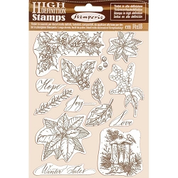 Stamperia - Cling Stamps - Winter Tales Poinsettia