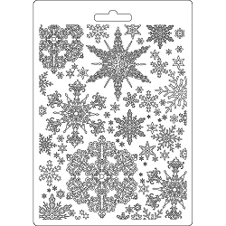 Stamperia - Winter Tales Snowflakes A5 Soft Mould