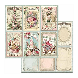 Stamperia - Pink Christmas - Christmas Cards 12
