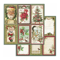 Stamperia - Classic Christmas - Christmas Cards 12