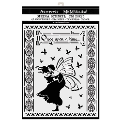 Stamperia - Winter Tales Once Upon A Time Stencil (8x10)