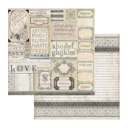 Stamperia - Calligraphy - Patchwork Of Labels 12