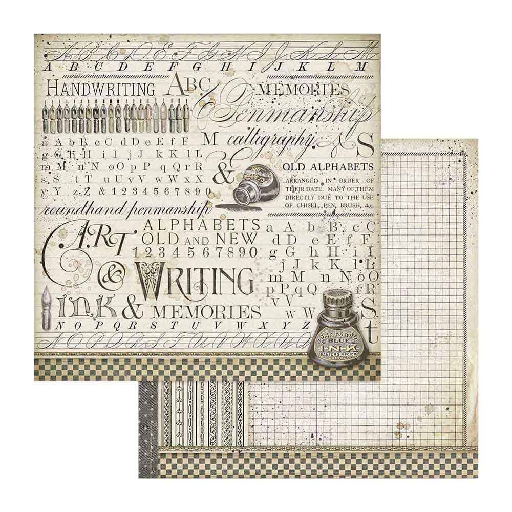 Scrabooking Paper Paper Packg. Stamperia Calligraphy  12x12