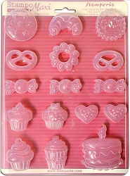 Stamperia - Stampo Maxi PVC Mold - Cookies & Sweets