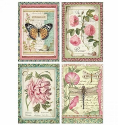 Stamperia - Botanic Flower Cards Rice Paper