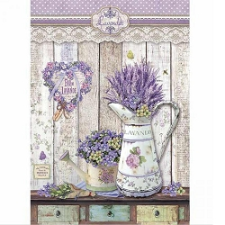 Stamperia - Provence Shabby Watering Cans Rice Paper