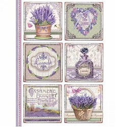 Stamperia - Provence Cards Rice Paper