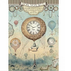 Stamperia - Voyages Fantastiques Balloon Rice Paper