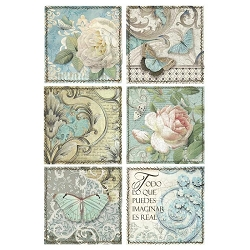 Stamperia - Azulejos Cards Rice Paper
