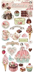 Stamperia - Sweety 6x12 Chipboard Stickers