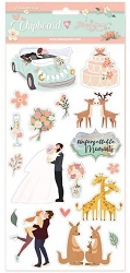 Stamperia - Love Story Wedding 6x12 Chipboard Stickers