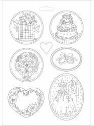 Stamperia - Ceremony Wedding A4 Soft Maxi Mould