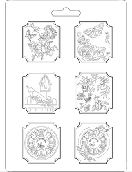 Stamperia - House of Roses Plaquettes A4 Soft Maxi Mould