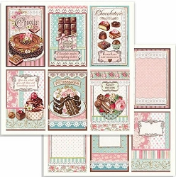Stamperia - Sweety - Chocolate Cards 12