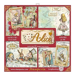 Stamperia - Alice Gold - Maxi Paper Pack