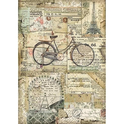 Stamperia - Around the World Bicycle Rice Paper