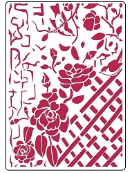 Stamperia - House of Roses Fence with Roses Stencil (8x11.5)