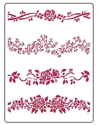 Stamperia - House of Roses Borders Stencil (8x11.5)