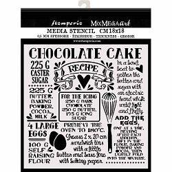 Stamperia - Sweety Chocolate Cake Stencil (7