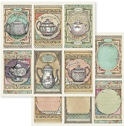 Stamperia - Alice - Tea Time Cards 12
