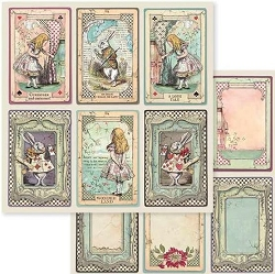Stamperia - Alice - Cards 12