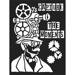 Stamperia - Stencil - Capture The Moments (6x8)