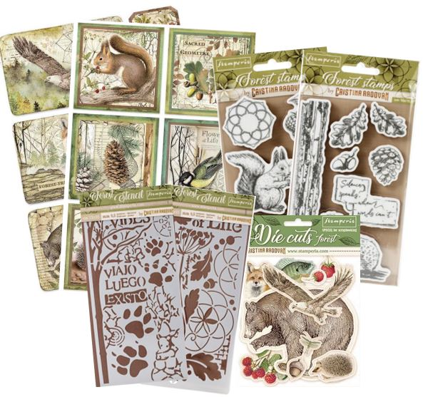 Stamperia - Forest Collection stamps, stencils, rice paper, etc.