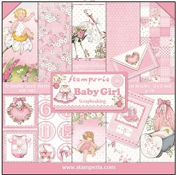 Stamperia - Baby Girl - Paper Pack