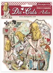 Stamperia - Alice - Die Cut Chipboard Ephemera