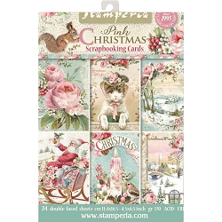 Stamperia - Pink Christmas - Journaling & Topper Cards
