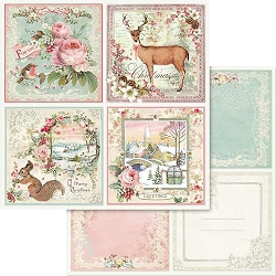 Stamperia - Pink Christmas - Cards 12