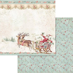 Stamperia - Pink Christmas - Santa Claus Sled 12