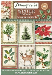 Stamperia - Winter Botanic - Journaling Cards