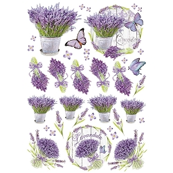Stamperia - Lilac Flowers - Lavender Rice Paper